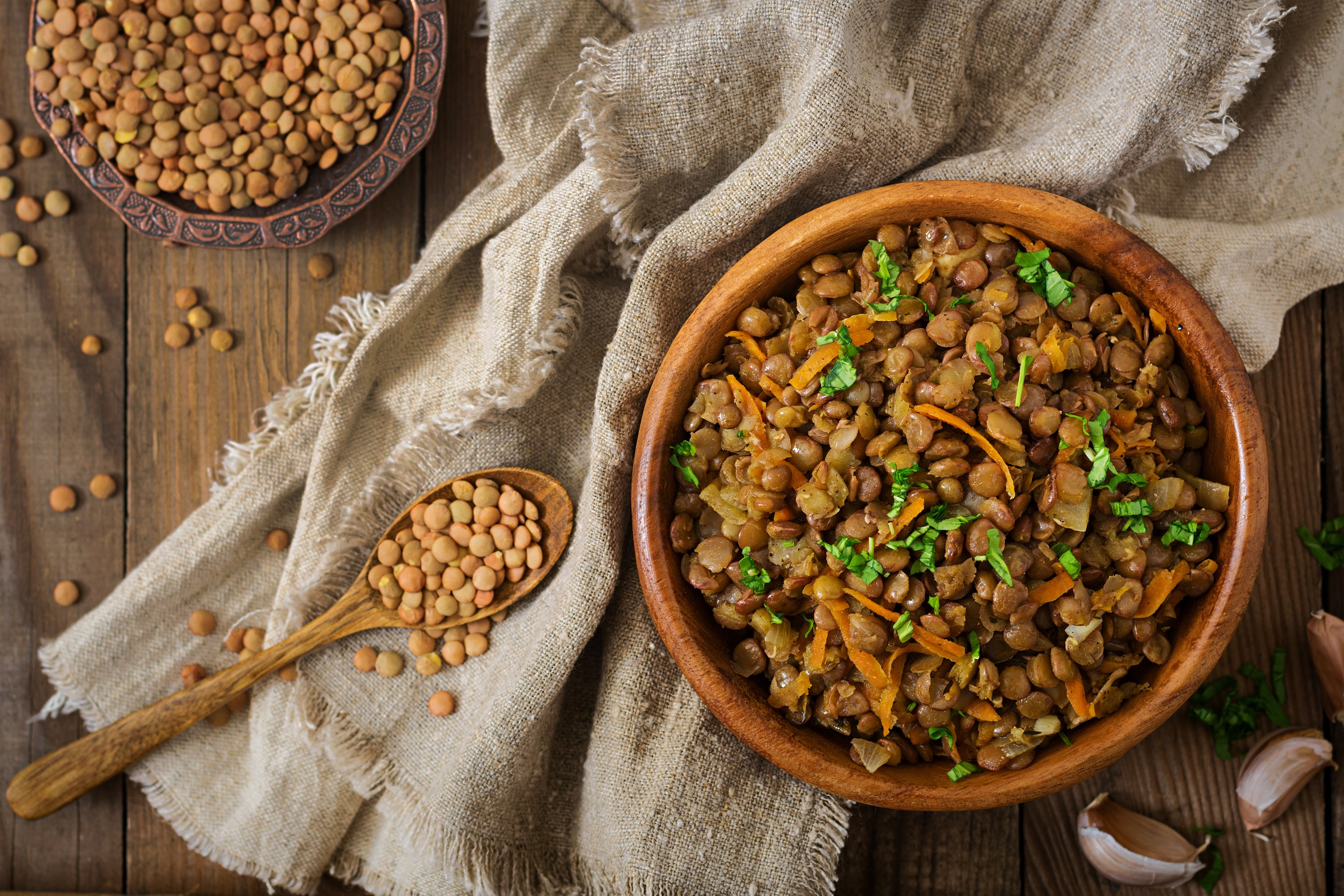 French Lentils with Garlic and Onion