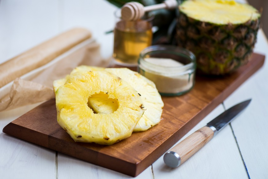 Grilled Maple-Glazed Pineapple
