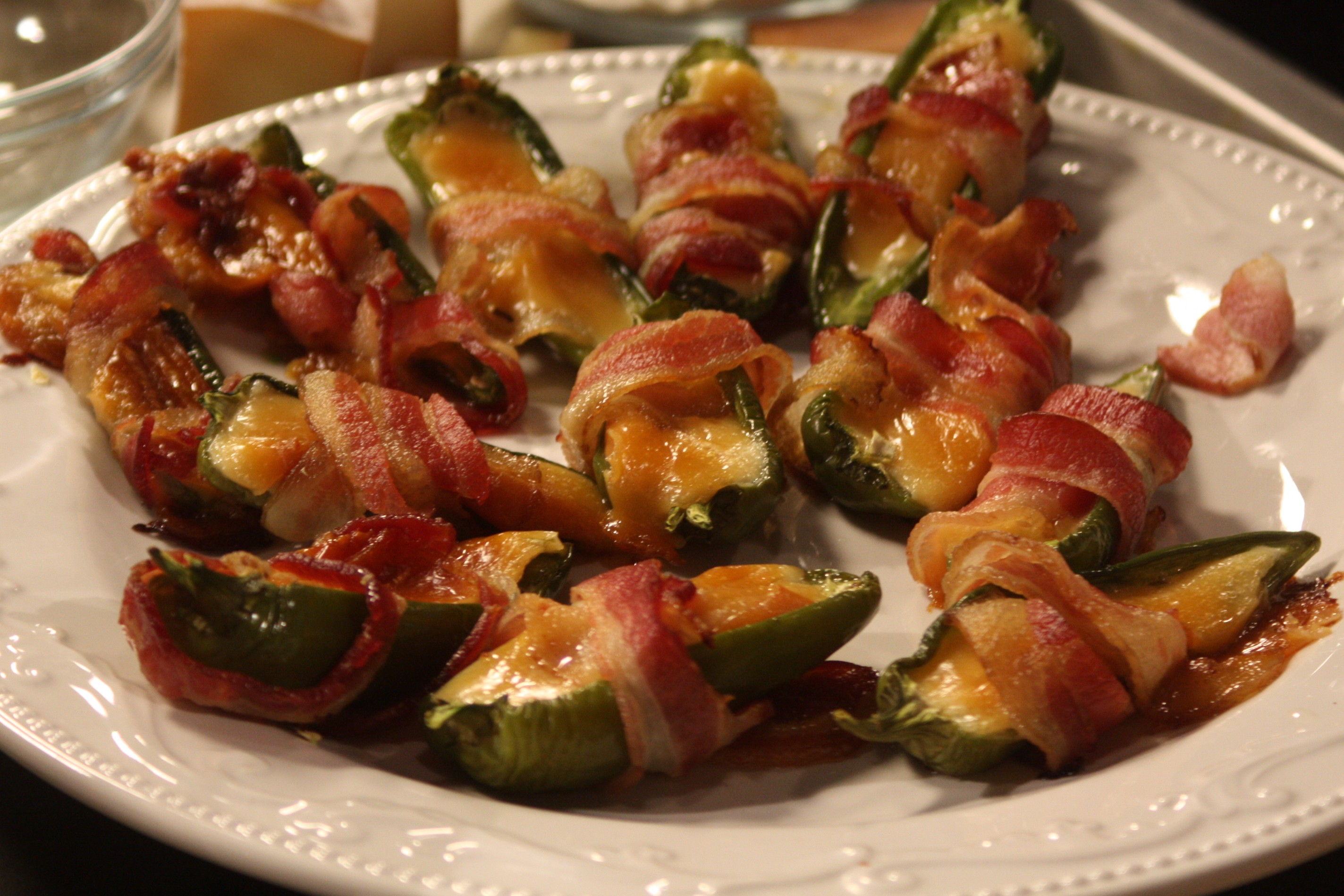 Smokey Jalapeno Poppers Wrapped with Bacon