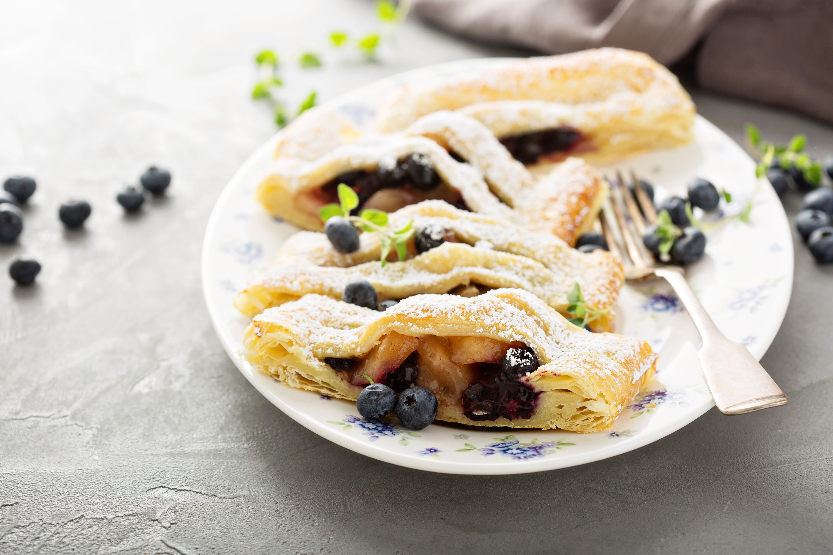 Apple Blueberry Strudel