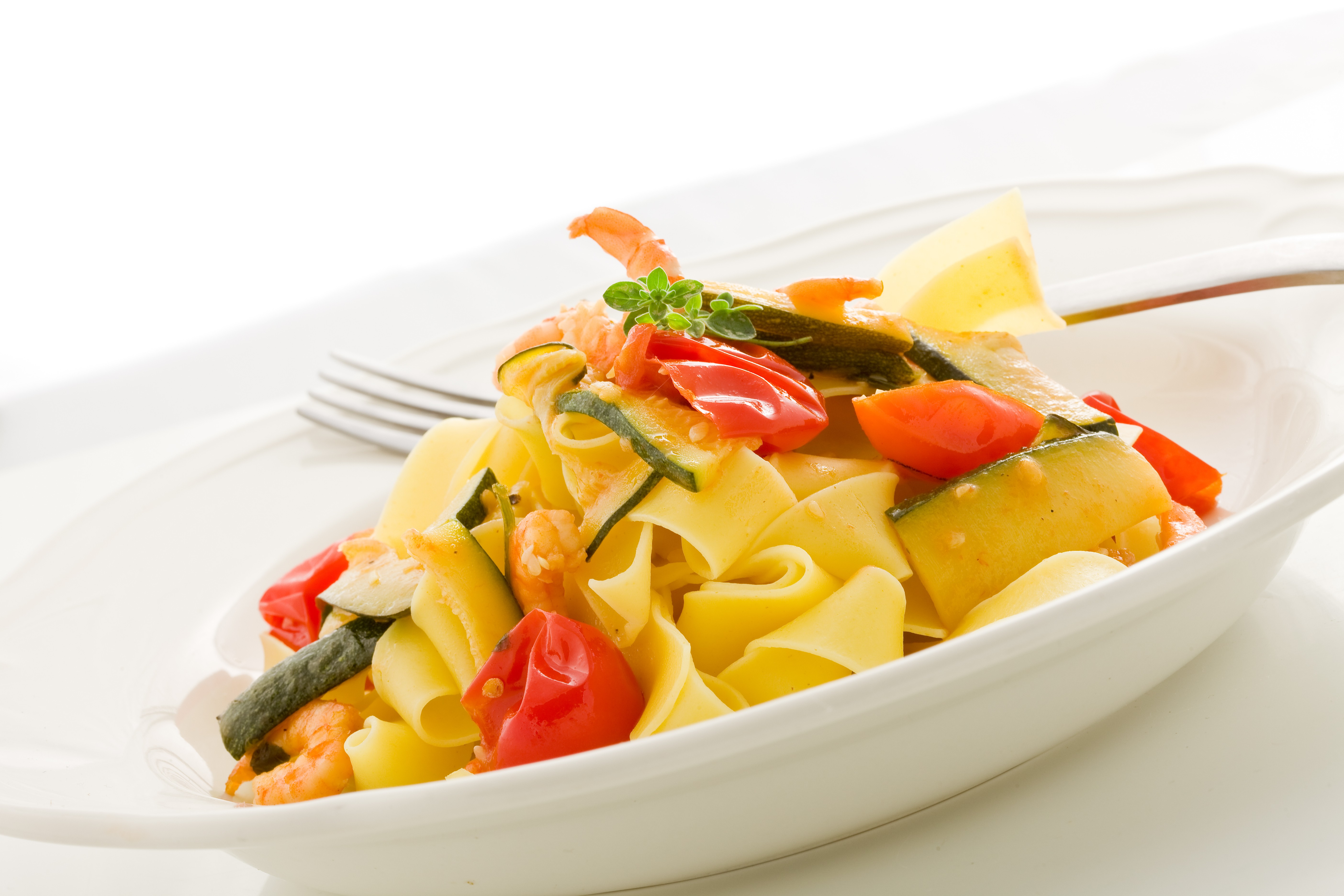 Pappardelle with Shrimp & Zucchini