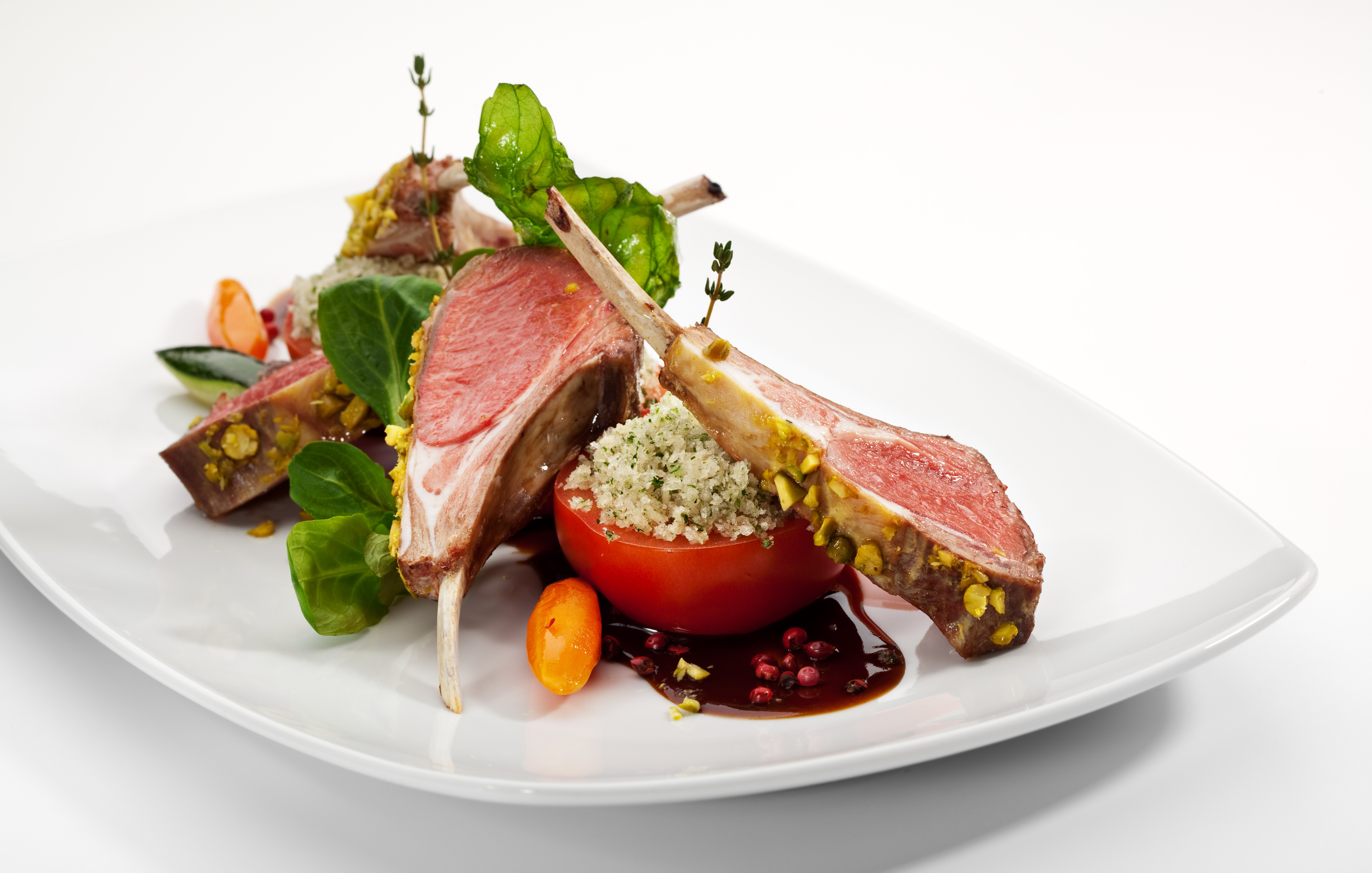 Roasted Lamb with Maple Walnut Crust
