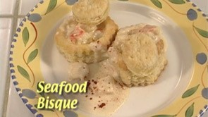 Seafood Bisque in Pastry Shells
