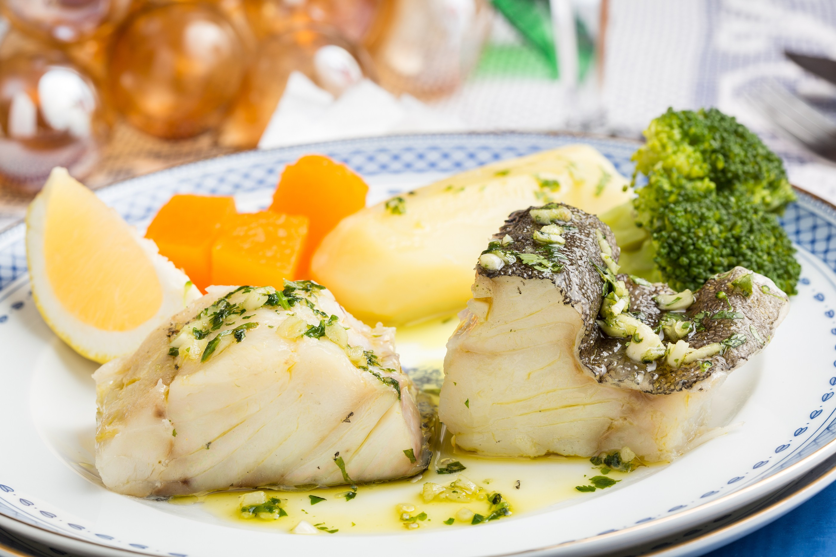 Steamed Cod and Vegetables