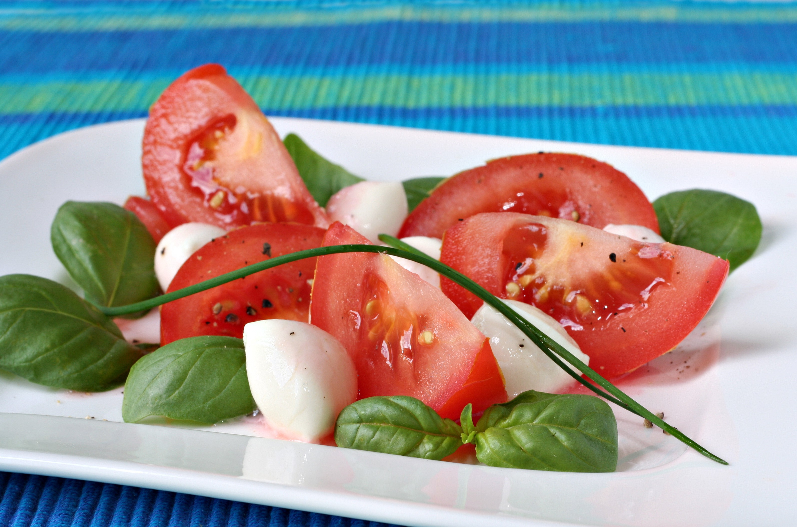 Summer Tomato Salad with Red Wine & Basil Vinaigrette