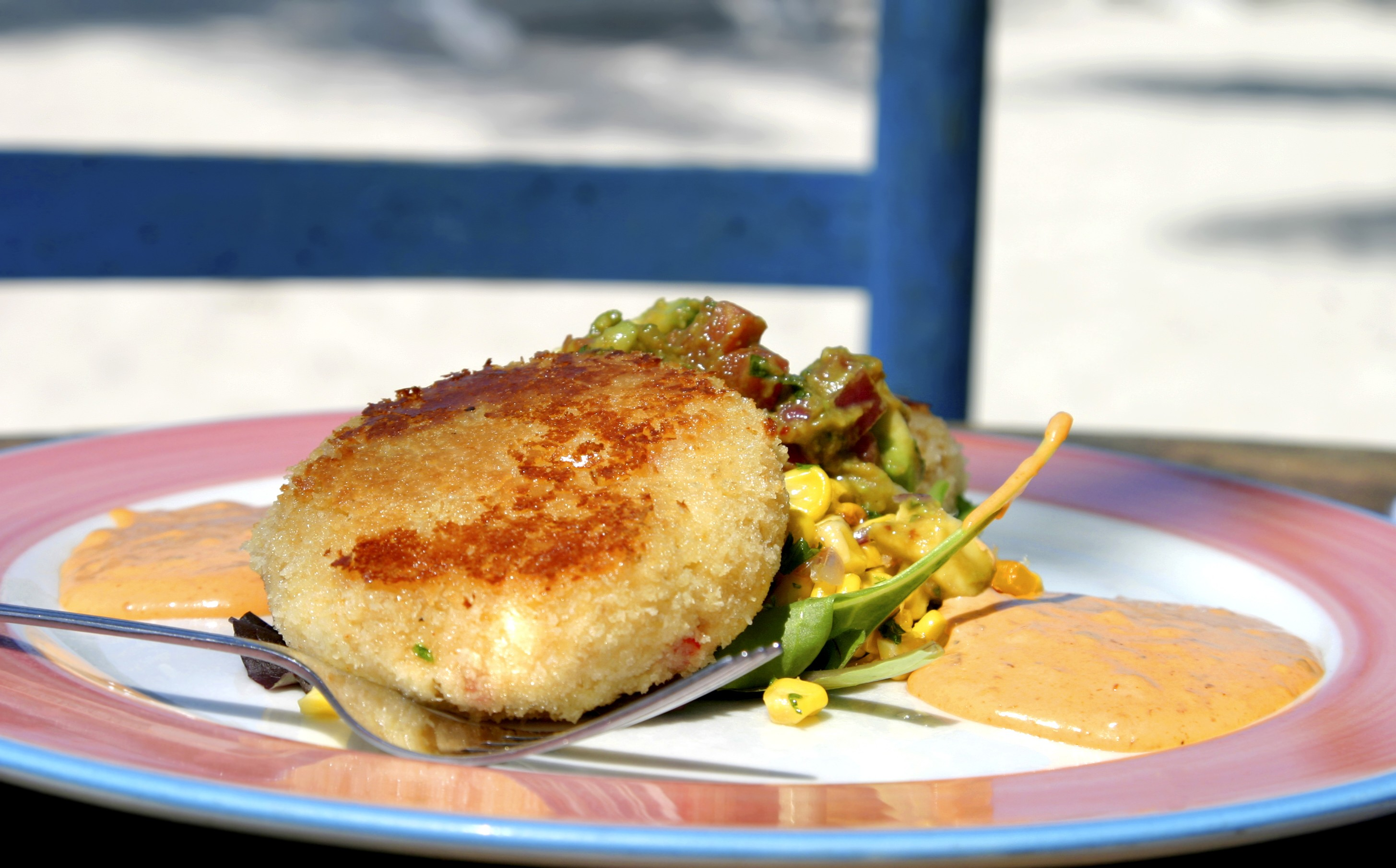 Crab Cake in Kataify Pastry with Grapefruit and Lime Vinaigrette