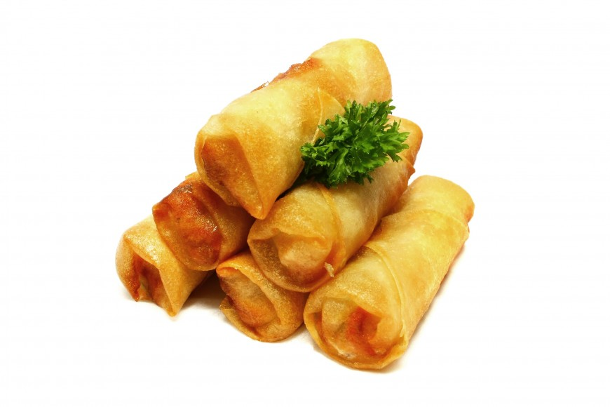 Scallion Potato Spring Rolls