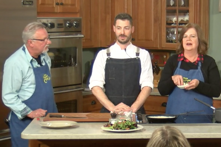 New England Cooks with Sandy & Tony and special guest Chef Aaron Martin - Red Wine Braised Pear (with salad variation)