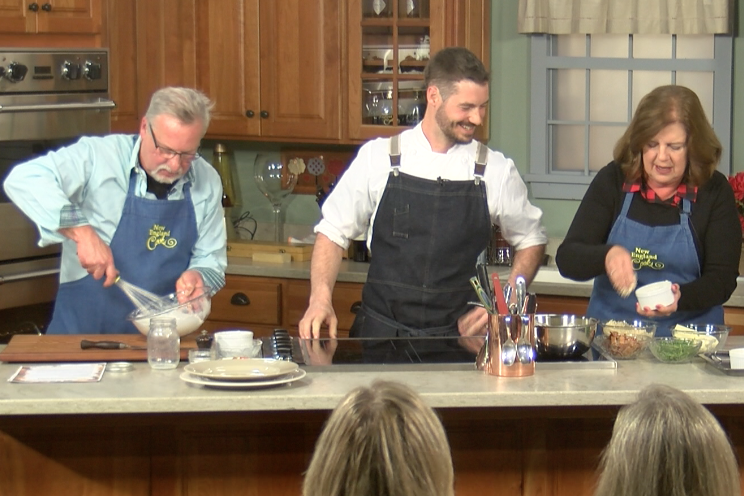 New England Cooks with Sandy & Tony and special guest Chef Aaron Martin - Smoked Cheddar Soufflé
