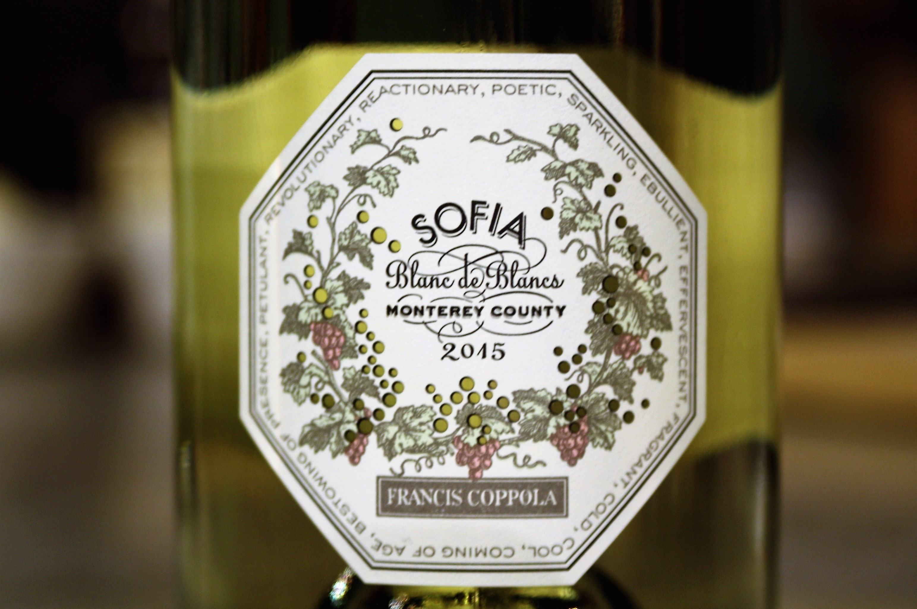 Francis Ford Coppola Winery, Monterey County Brut Blanc de Blancs Sofia (2015)